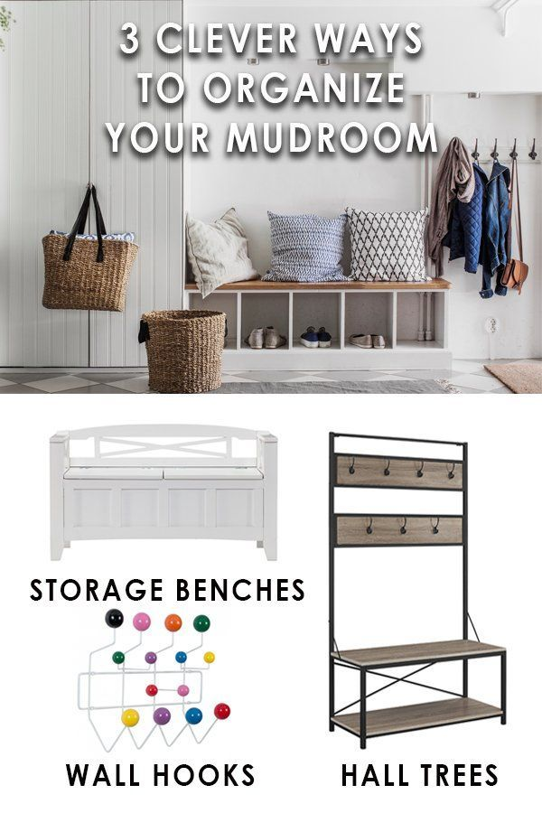Organize Your Mudroom Furniture Keep your family mudroom or entryway organized. Discover smart storage  solutions, personalized drop zones for all your gear, and wall hooks that  will have ...