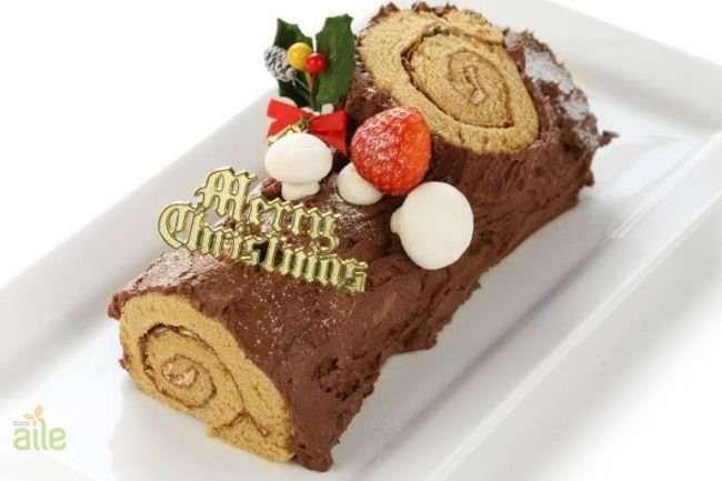 Kestaneli ve çikolatalı yılbaşı pastası tarifi