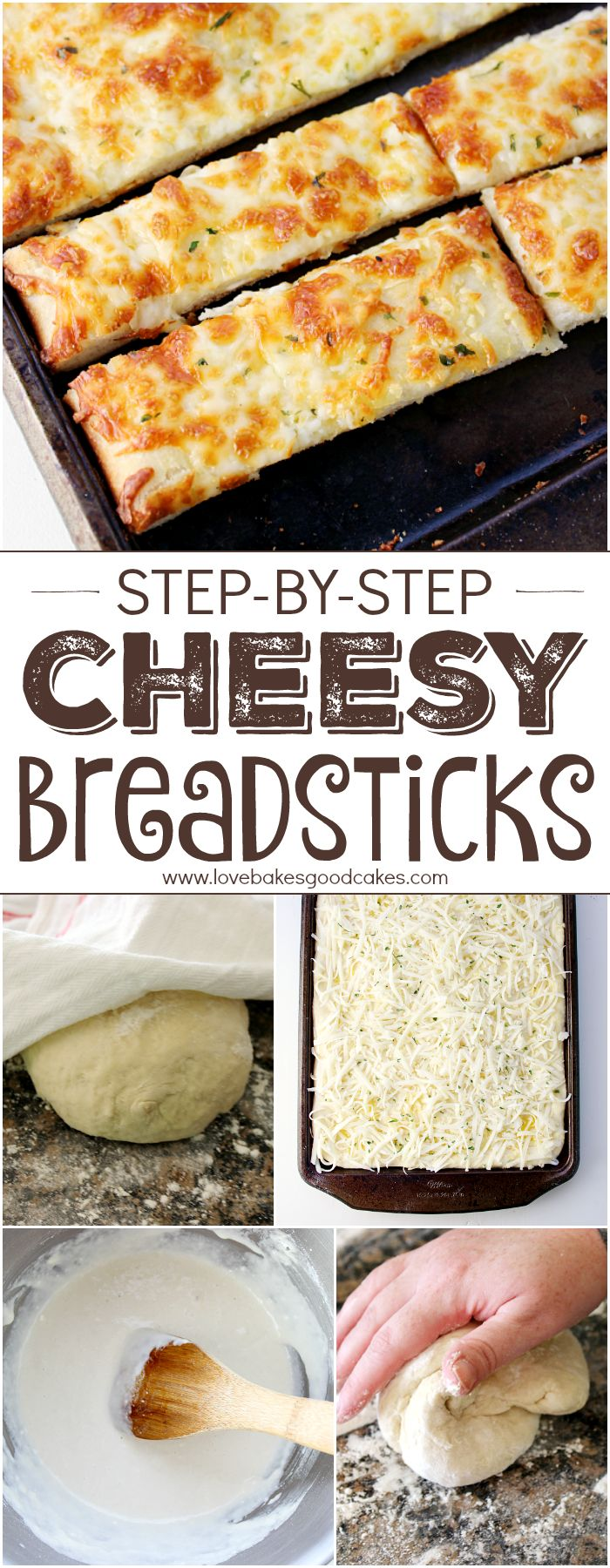 Easy and made from scratch Cheesy Breadsticks like your favorite pizza joint! Recipe includes step by step instructions with photos! Cooking with yeast doesn't have to be intimidating! #FleischmannsYeast #ad:
