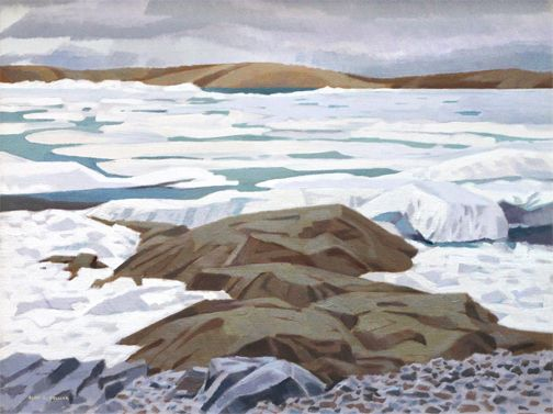 Alan Collier - Resolute N.W.T.  24 x 32 Oil on canvas (1987)