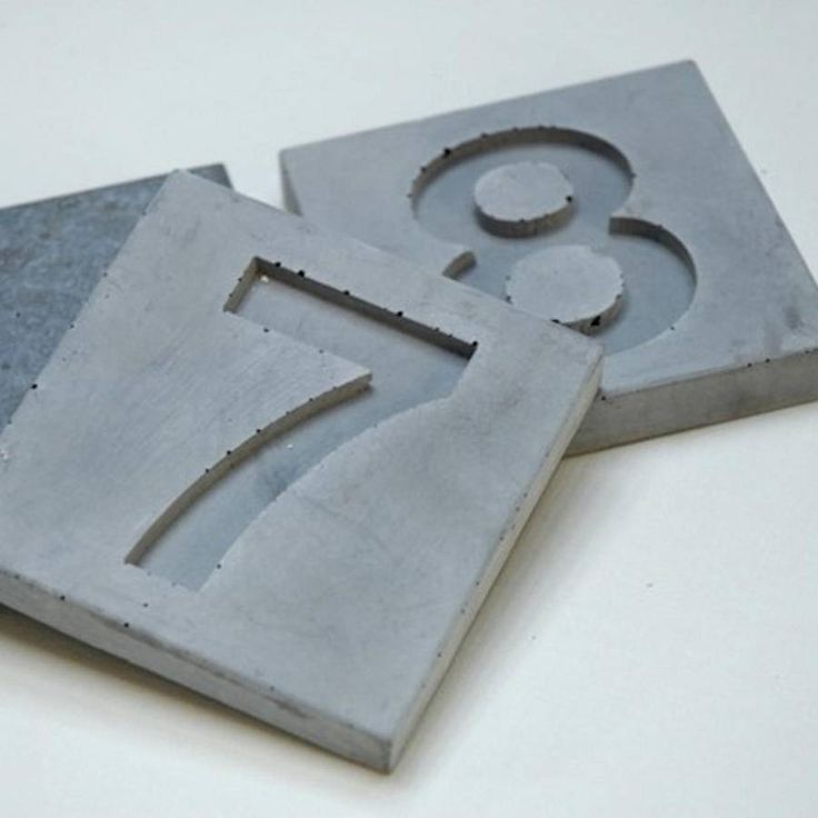 Concrete number tiles!