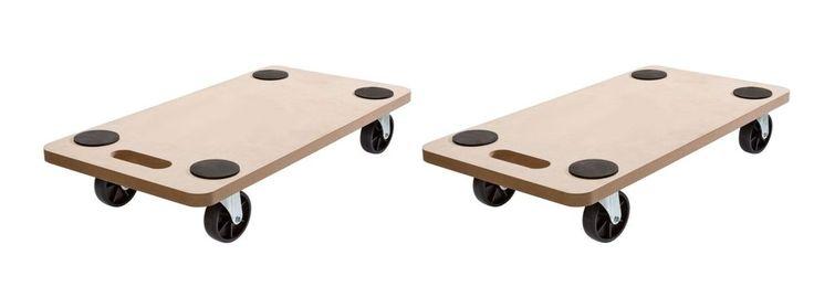 (2Stück) Rollbrett Transportrolle Möbelroller Möbelhund Roller Transporter 200kg