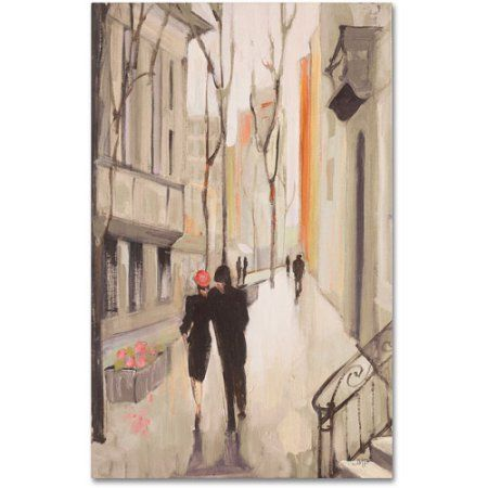 Trademark Fine Art Village Promenade Neutral Canvas Art by Julia Purinton, Size: 16 x 24, Multicolor