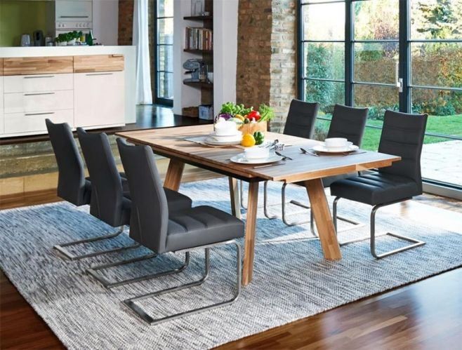 Contemporary Arte M Feel Solid Oak And Choice Of Leg Style Dining Table. #