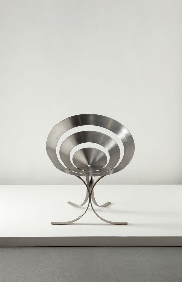 stainless steel furniture designs. A Sculptural Ring Chair Of By The Master Stainless Steel MARIA PERGAY. Furniture Designs