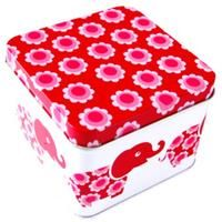 Liten box röda elefanter, en rostfri matlåda från Ekokul.
