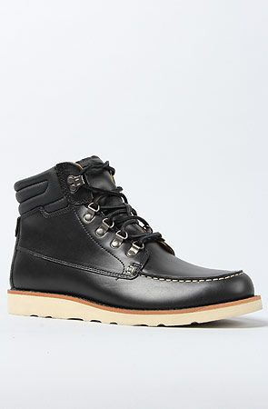 The Abington Low Guide Boot in Black Smooth by Timberland