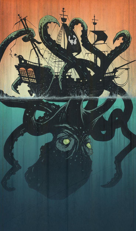 Be ye finding a Kraken!?  Then ye be find Davy Jones locker too! Beware !  #pirates