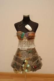 cool dress made out of e waste #dressart
