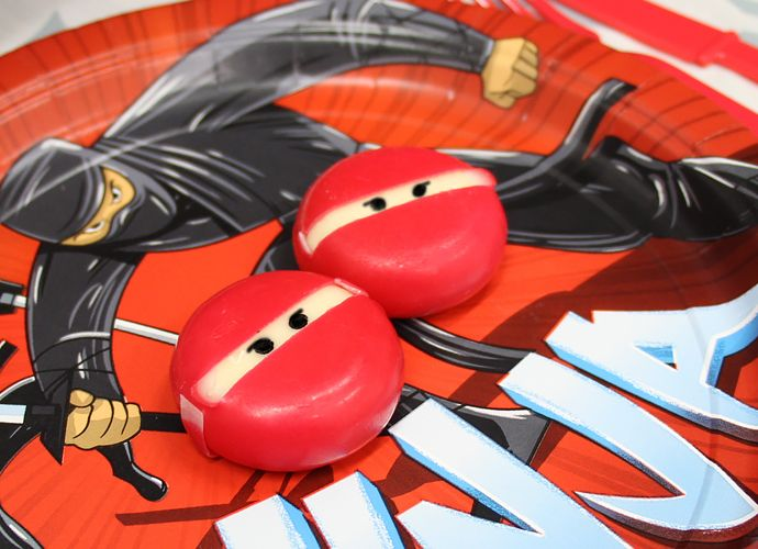 Ninja Party Ideas - Ninja Babybels                                                                                                                                                                                 More