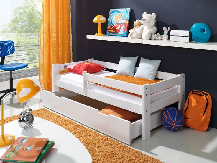 Dětská postel se zábranou Bílá