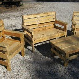 salon 001 600x337 Complete garden set salon de jardin in pallet garden