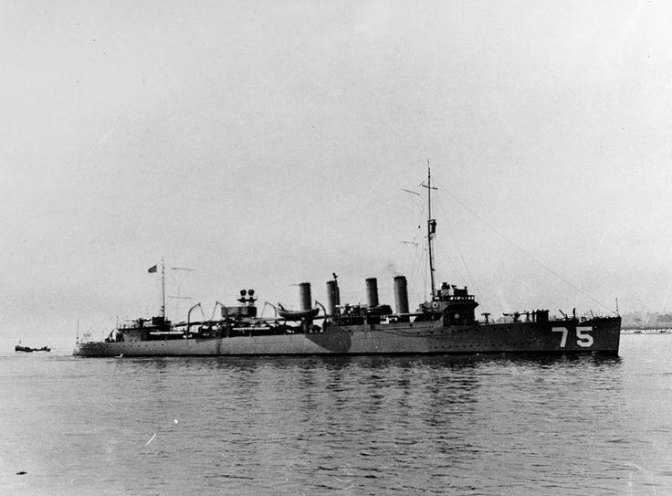 * USS Wickes * 1917. Contratorpedeiro da Marinha dos Estados Unidos.