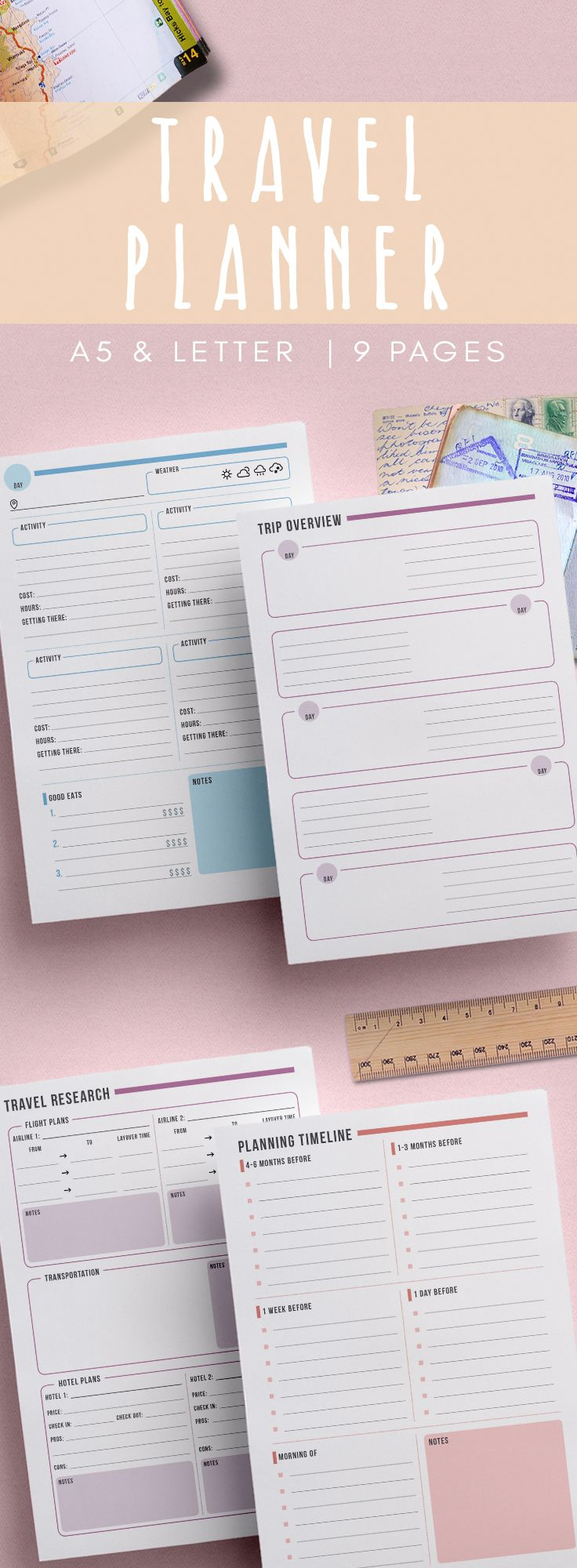Divorce Letter Template Free%0A Stay organized with this   page travel planning kit  Features packing list   travel itinerary