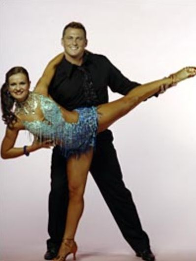 Winners of Strictly Come Dancing 2005. Darren Gough and Lilie Kopylova.