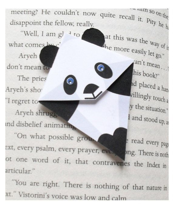 Panda Bookmark for your favourit book by naniduborgh on Etsy