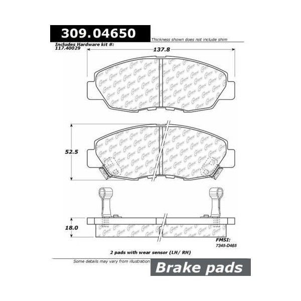 StopTech 1990-1997 Honda Accord (Sedan Coupe/ Akebono Calipers)/ 1997-1999 Acura CL Front Street Performance Brake Pads