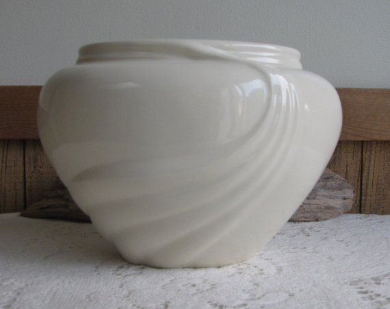 Vintage Haeger Pottery White Art Deco Art Pottery Imperfections Two Available Pottery Art Pottery Art Deco Vases