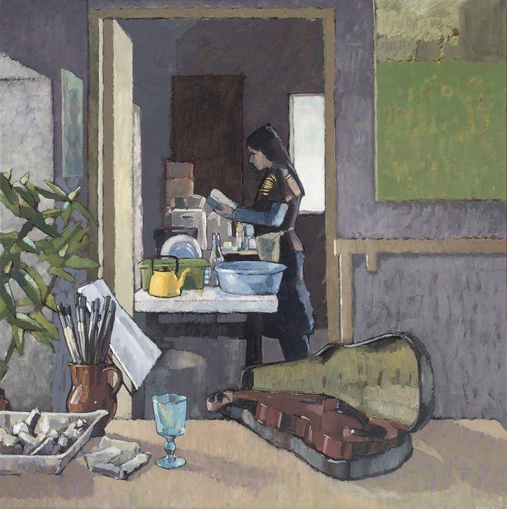 Robert Lynn (1940-) Grey Interior II 1982 (120,6 x 120,6 cm)