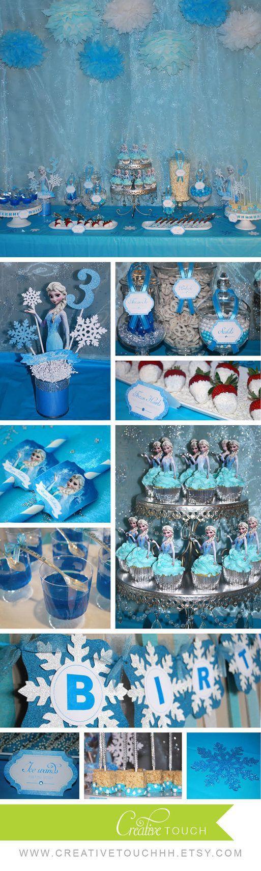 Frozen Cupcake Toppers Elsa Cupcake Toppers von CreativeTouchhh: