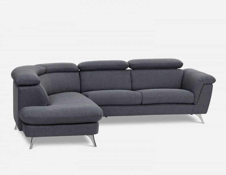 KENLEY - Sectional Sofa Left - Dark Grey