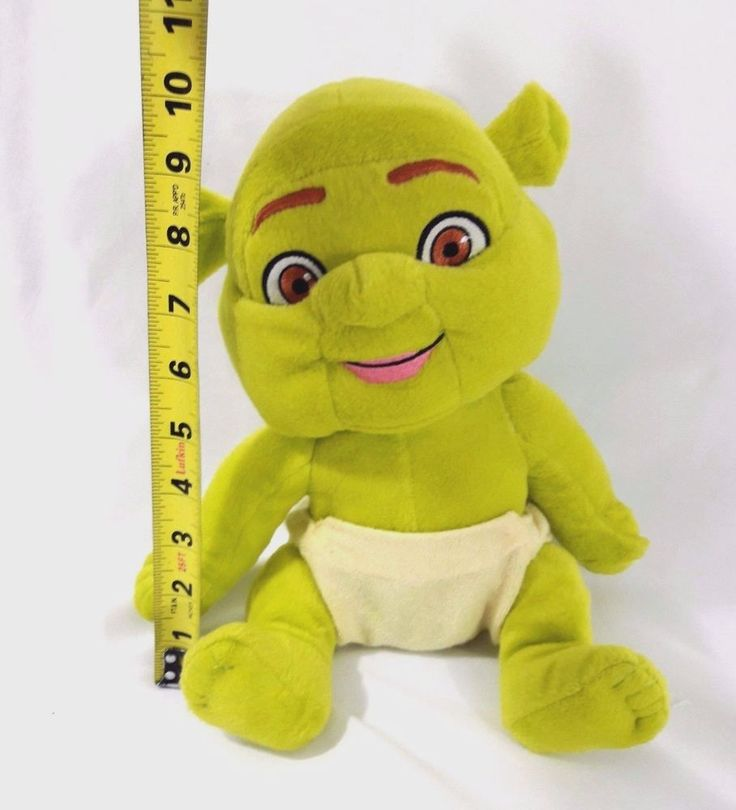 "Shrek the Third TRIPLETS Baby Diaper 10"" Plush Stuffed Toy Pixar #Unbranded"