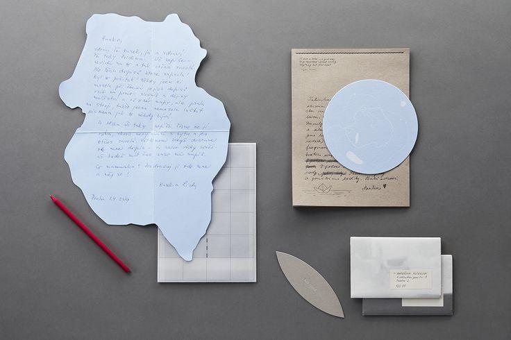 Dopisní sada medium Korespondenční kolekce carta papelote - nové české papírnictví new czech stationery, Prague letter, envelope, handwriting