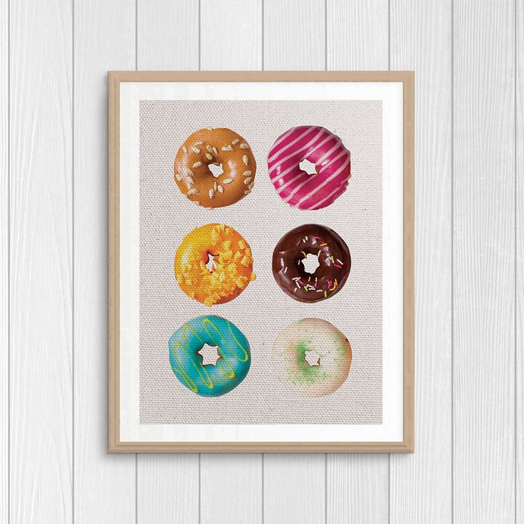 Donut Print - Food Photography - Sweets Poster - Kitchen Wall Art - Bakery Print - Printable Art - Doughnut Print - Food Wall Decor by Thestrangerboutique on Etsy