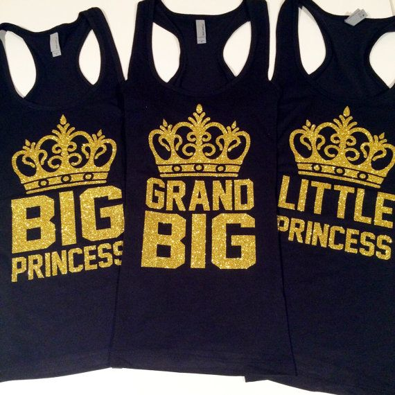 Crown Big Little Tank Gift for Little Crown by TheCraftyEngineerx