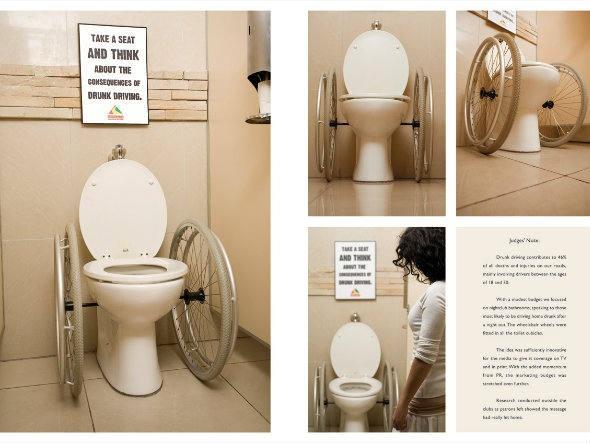 """""""Sente e pense sobre as consequências de dirigir alcoolizado"""": ação da Jupiter Drawing na África do Sul"""