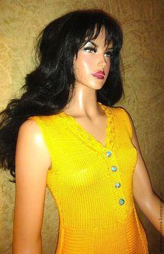 Платья ручной работы. Желтый сарафан. Анна Лесникова         Luxury style. Ярмарка Мастеров. Нарядное платье, нарядный сарафан
