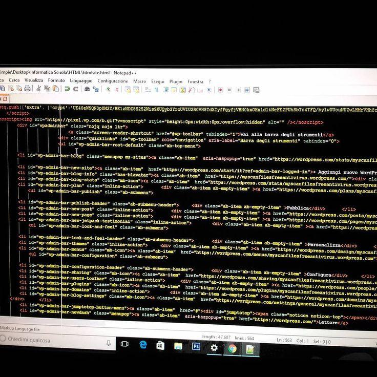 Programmando HTML #html #html5 #developer #development #website #java #javascript #ddos #informatica #informatics #google #italy #italydeveloper #hacker #hacks #fucksociety #hacking #hackinglife #kalilinux #linux #unix #like4like #like #like4follow #follow4follow #system #study #LanguageC