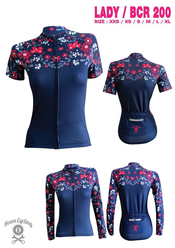 Women Cycling Jersey by Boom Cycling                              …