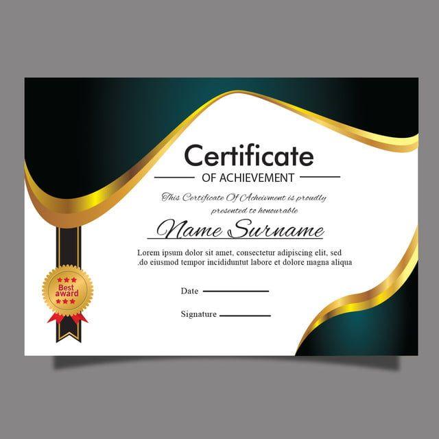 رويال الذهب نموذج شهادة نظيفة جائزة الدبلوم او تخرج الاغراض Plantillas De Certificado Diplomas De Agradecimiento Modelos De Diplomas