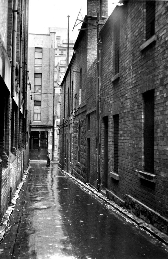 1951: Tattersalls Lane, off Bourke St. Picture: Herald Sun Image Library/ARGUS