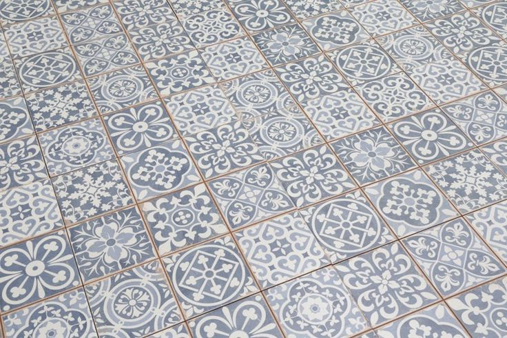 Tangier Blue Decor Tile 33x33cm - The Moroccan Collection - Vintage & Patterned - Tiles