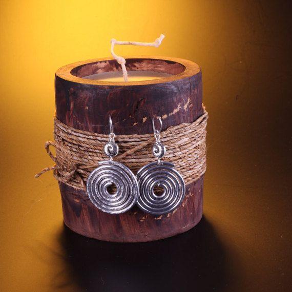 Orecchini a spirale in alluminio earrings di GrovigliLab su Etsy
