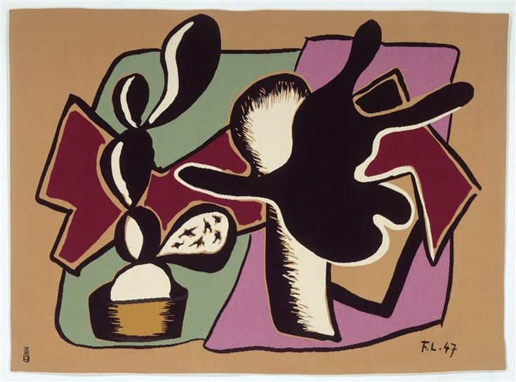 Lamp and flower (the candlestick) - Fernand Leger - WikiArt.org