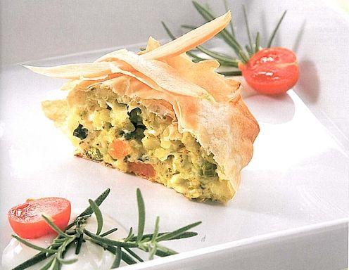 Kartoffel Gemüsestrudel - Rezept - ichkoche.at