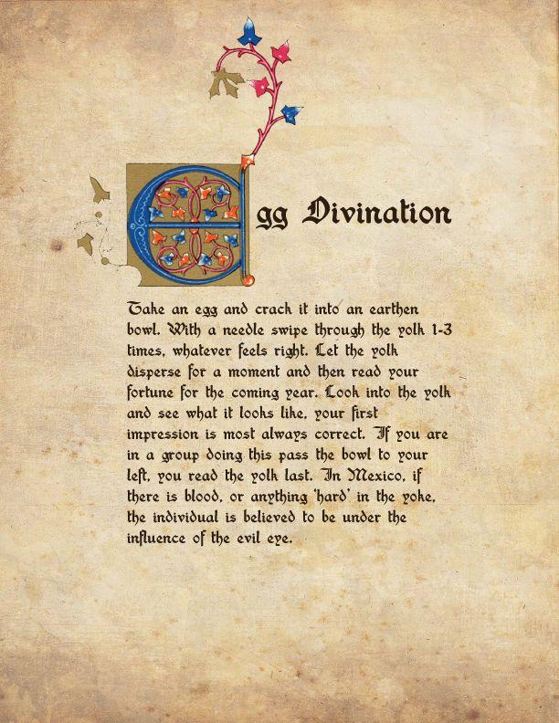 7 SIMPLE OSTARA RITUAL IDEAS #1 Egg Divination