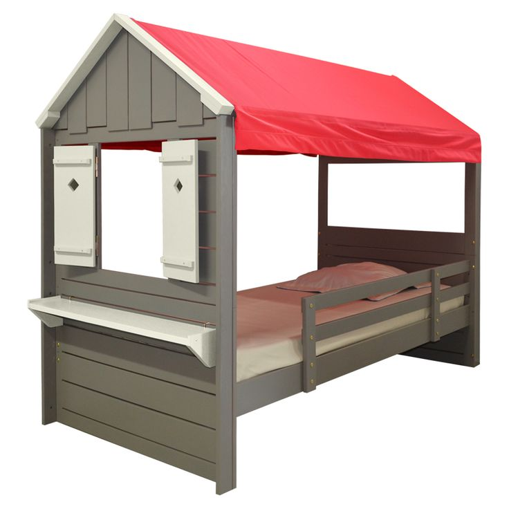 lit cabane enfant pm loutre et rouge rouge passion. Black Bedroom Furniture Sets. Home Design Ideas