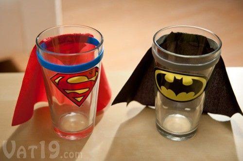 Comic Book Glasses Diy Drinking