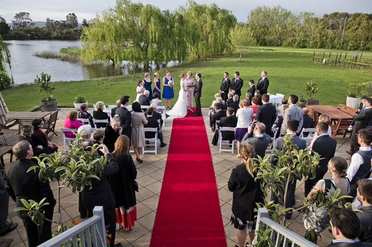 Terrace ceremony  Weddings at Stillwater at Crittenden, Mornington Peninsula www.stillwateratcrittenden.com.au