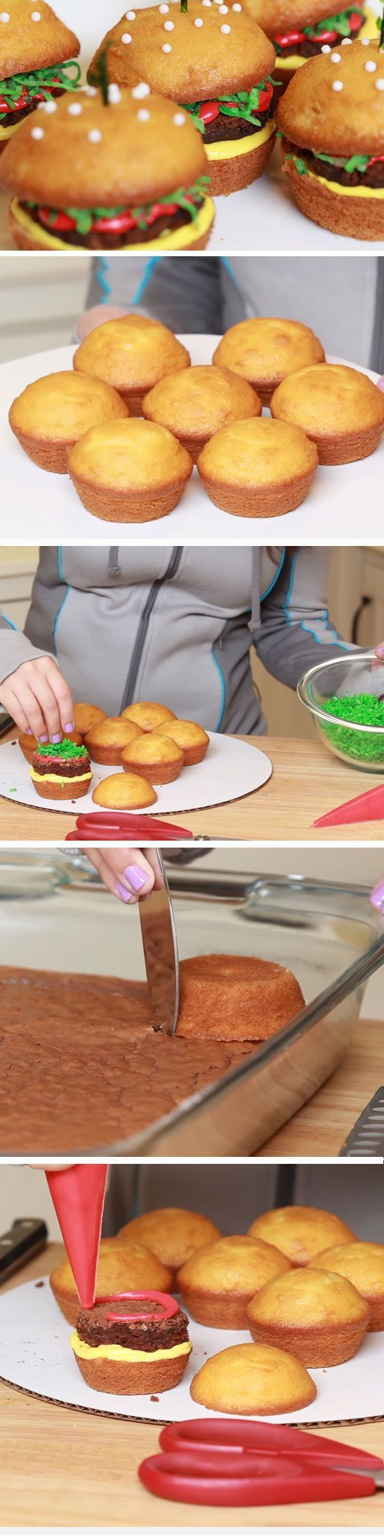 Cheeseburger Cupcakes | DIY Fathers Day Cupcakes Ideas for Kids to Make | DIY Birthday Gifts for Dad from Kids