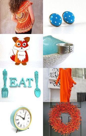 Orange autumn by Melinda on Etsy--Pinned with TreasuryPin.com