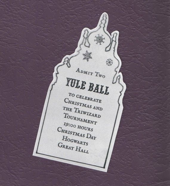 Harry Potter Yule Ball Ticket