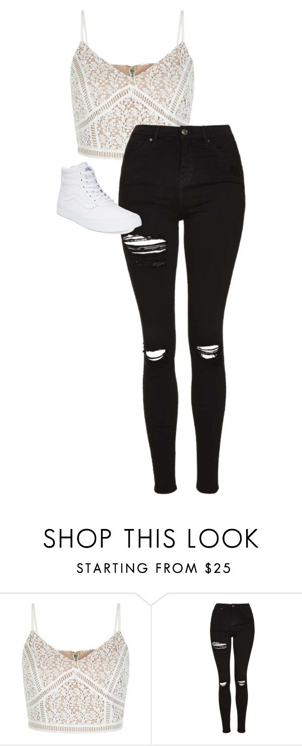 """""""././.....///...."""" by anna-mae-equils ❤ liked on Polyvore featuring Topshop and Vans"""