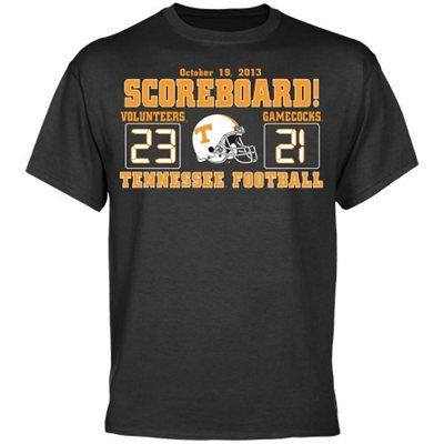 Tennessee Volunteers vs. South Carolina Gamecocks 2013 Score T-Shirt - Charcoal
