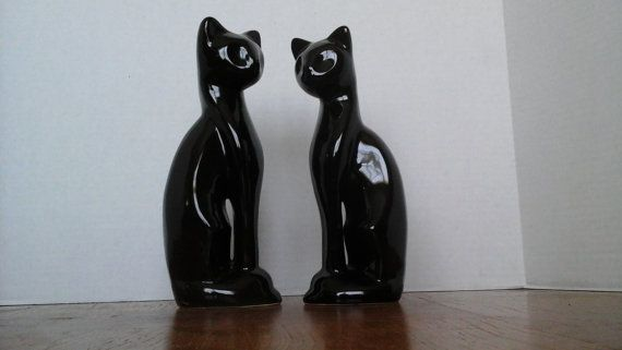 Two Black Cats Mid Century Modern Tall Black door hillsidehomearts