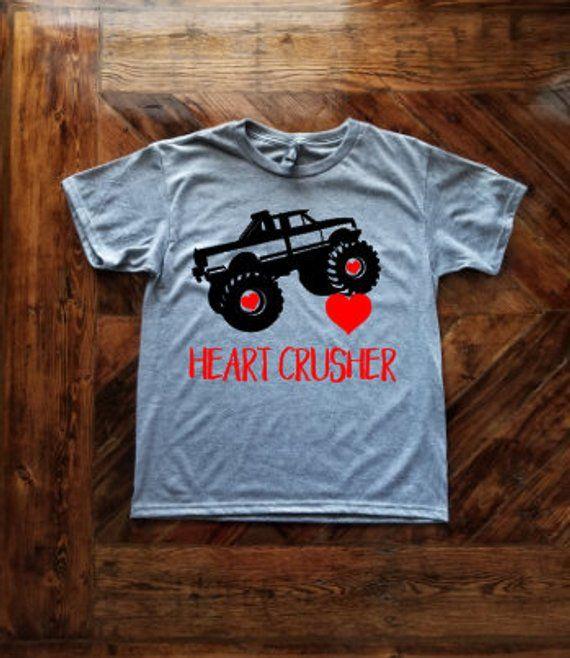 6e51b6e02 Heart Crusher Monster Truck Valentine's Day YOUTH Shirt for Boys / Monster  Truck Shirt / Boy's Valen | Products | Valentines day shirts, Valentines  for boys ...